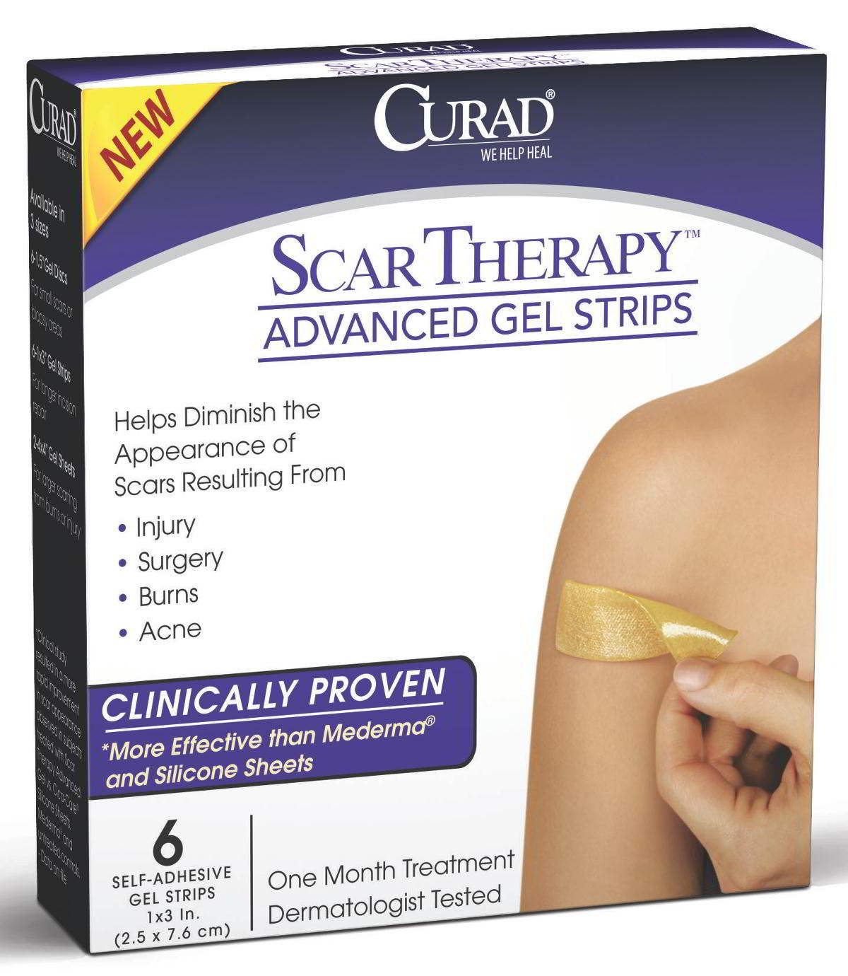 CURAD Advanced Scar Therapy Strips