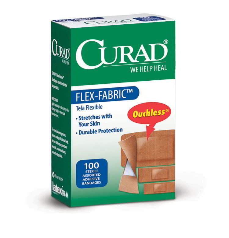 CURAD Flex-Fabric Bandages,Brown