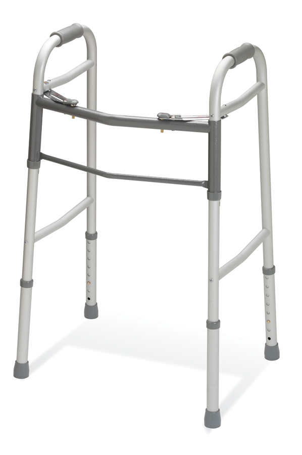 Youth Two-Button Folding Walkers with 5″ Wheels