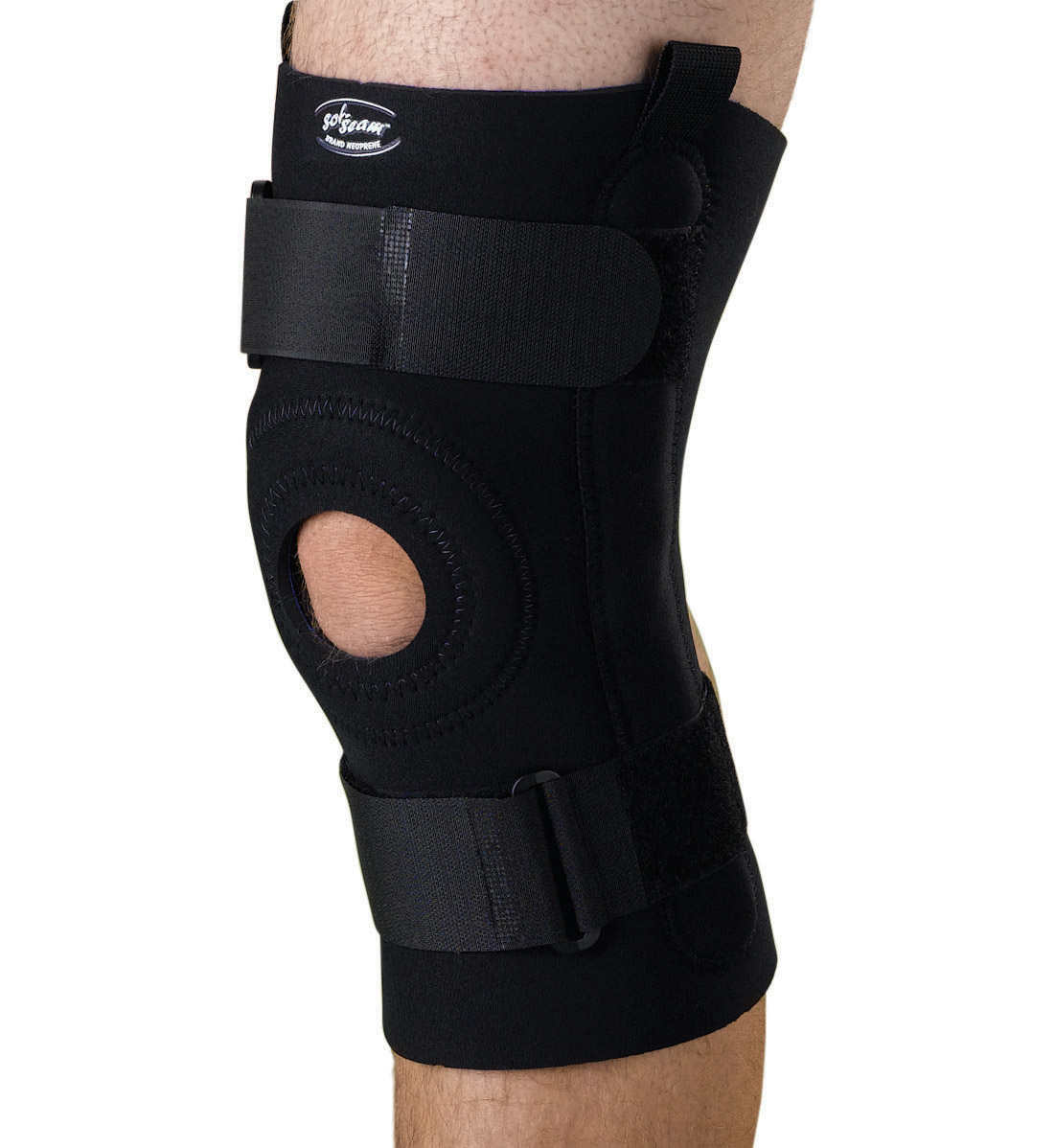 U-Shaped Hinged Knee Supports,Black