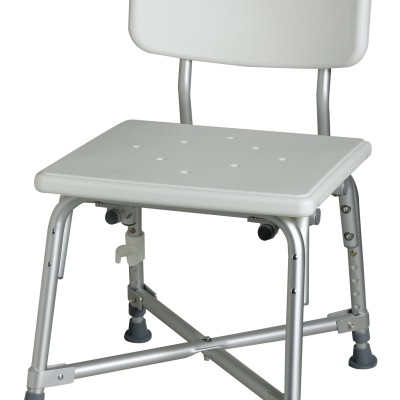 Bariatric Aluminum Bath Bench with Back