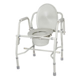 K.D. Deluxe Steel Drop-Arm Commode (Tool Free)
