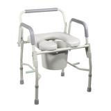 K.D. Deluxe Steel Drop-ArmCommode with Padded Seat