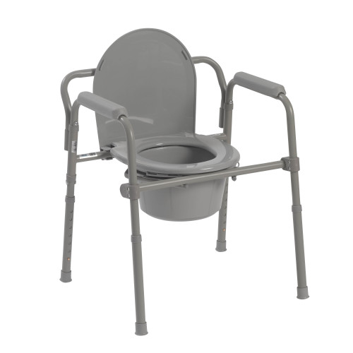 Folding Steel Bedside Commode