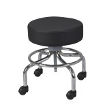 Revolving, Adjustable Height Stool with Round Footrest